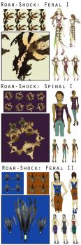 Roar Shock Series: Fabric tile illustration by trendevian