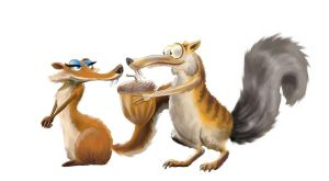 Scrat and Scratte by MasterSS