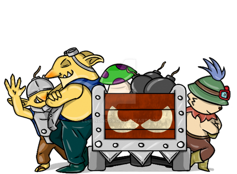 Teemo X Techies by LegendNooB