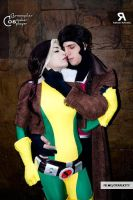 Rouge and Gambit by DarkTifaStrife