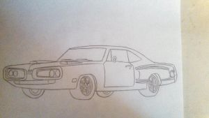 Random Drawings - Coronet Super Bee by RyoFox630