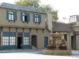 00275 - European Courtyard with Fountain by emstock