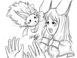 Sketch: Harmony and Haro by MARKCW