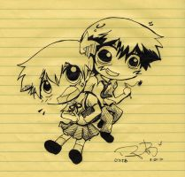 Ash and Misty at school :) by sweetchiyo001