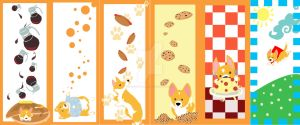 Corgi Bookmarks by Caresse-par-la-lumie