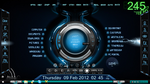 Rainmeter Hud Digital with lightning spark by jestjoy11