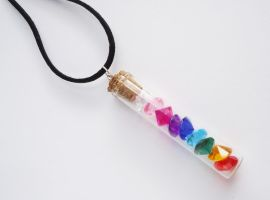 Rainbow Gem vial by FrozenNote