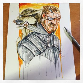 Metal Gear Solid 5 Saucy Sketch by RobDuenas