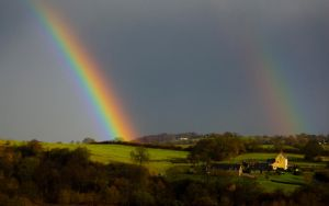 Rainbow Over The Valleys by umboody
