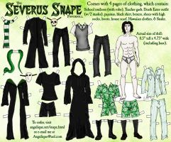 The Severus Snape Paperdoll by Angulique