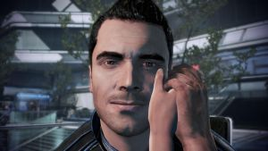 Kaidan with the Hand - Mass Effect 3 by loraine95