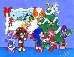 Sonic christmas 07 by tierafoxglove
