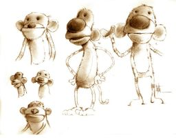 Monkey Character Concepts by Eyth