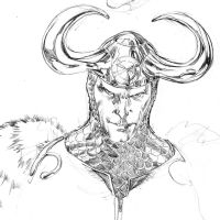 Loki unfinished portrait by SpiderGuile