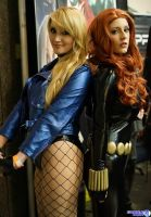 Black Canary Black Widow Team Up by Pokypandas