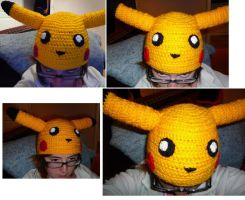 Pikachu hat by asexualgoddess
