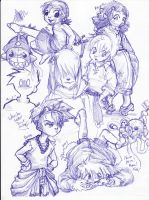 SDL Kids Sketches by conmandamned