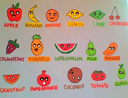 Fruits with faces by PJ987