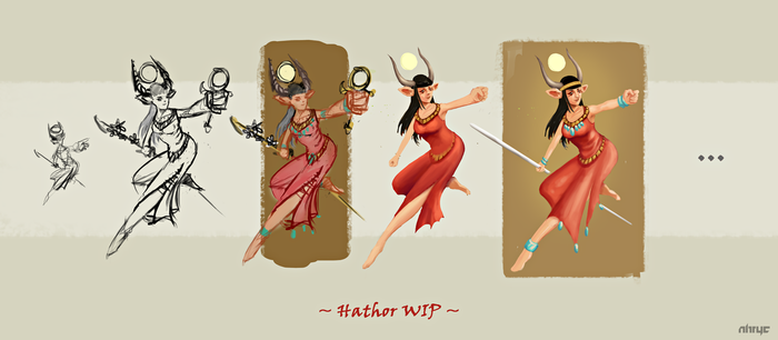 Hathor WIP by nirryc