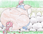 Big Big Sally and Knuckles. by Virus-20