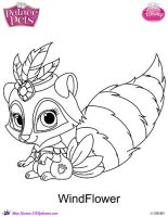 Princess Palace Pet windflower coloring by SKGaleana