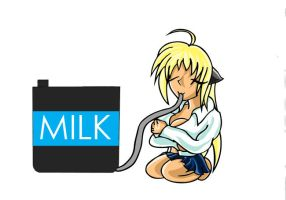 GFT-Liaas loves Milk..too much by dantiscus