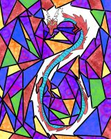 Dragon in Stained Glass by Shane-Twilight