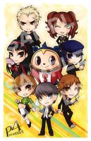 Persona 4 Chibi Poster by Vay-demona