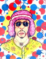 Hippie in an Acid Dream of Vivid Unreal Reality by MushroomBrain