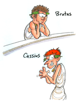 Brutus and Cassius by hankinstein