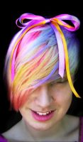 Pastel Rainbow Hair by littlehippy