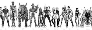 OC Group of Characters by dnewlenox