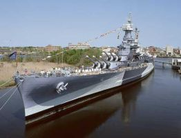 USS North Carolina BB 55 by intrepid1708
