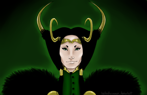 .loki: raven haired chaos. by moiraabsinthe
