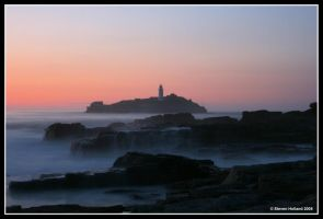 Godrevy Sunset 2 by Kernow-Photography