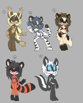 five dolla adoptables by threshii