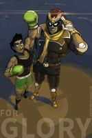 For Glory! Captain Falcon and Little Mac by MarvelousCoconuts