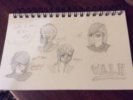 Sketches of other MK OC's #3 by XSkylarPawsX