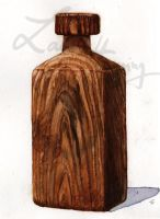 wood bottle by Scharach