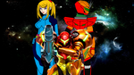 The Three Faces of Samus (for EeveeNicks) by imperialdramonDRMode