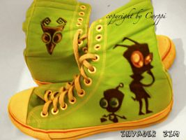 Invader Zim boots by corpitin