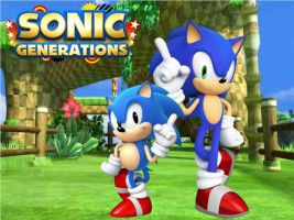 Sonic generation wallpaper by Spyronic