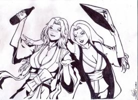 Rangiku and Tsunade got drunk by yifeicryst