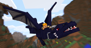 Riding an Enderdragon by LockRikard