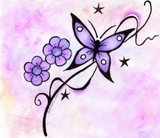 Butterfly Watercolour by SuperShadowX