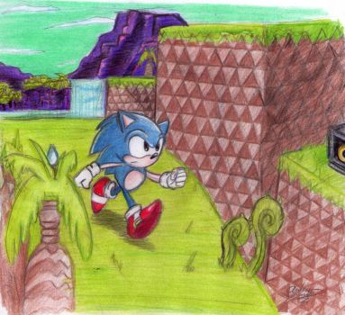 Sonic CD - PalmTree Panic in the 'PAST' by Reallyfaster