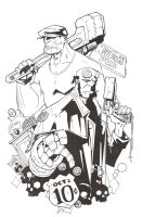 KidSTUFF: The Goon and Hellboy by KidNotorious