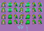 Palutena Sprite Sheet by KawaiiJoltic