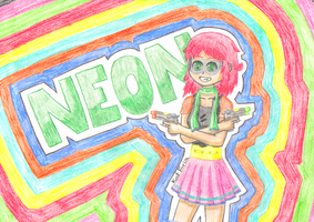 AT: Neon and Her Guns by Mistress-Siren