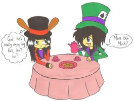 Two Mad Hatters by PearGirl
